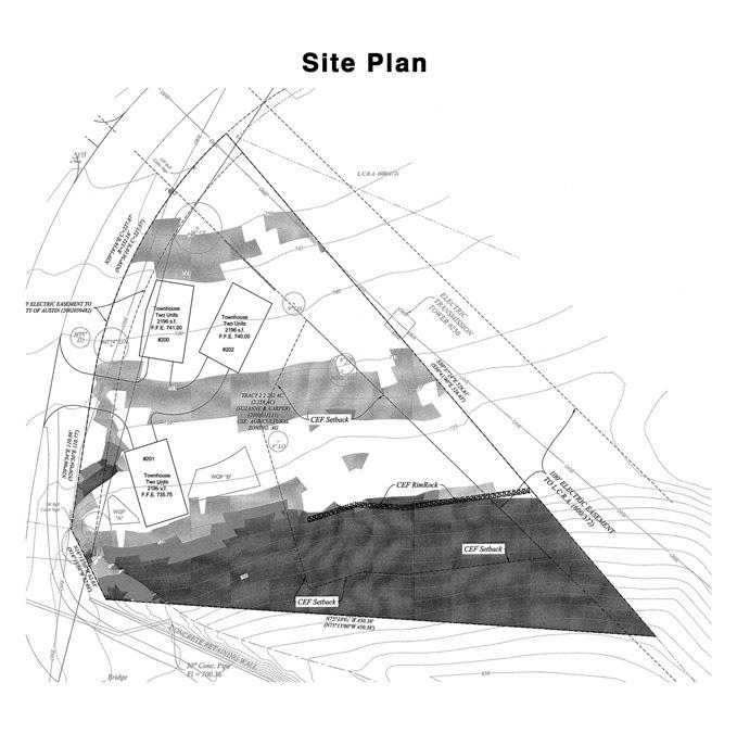 Lakeside Villas II - Site Plan - Mark Collins Builders, Inc.